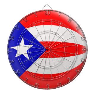 Dartboard con la bandera de Puerto Rico de 6 dardo Tabla Dardos