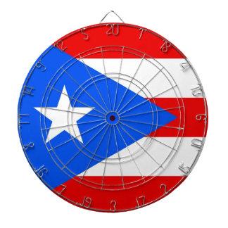 Dartboard con la bandera de Puerto Rico, los E.E.U Tablero Dardos