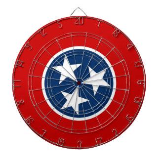 Dartboard con la bandera de Tennessee, los