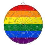 Dartboard con la bandera del orgullo del arco iris tablero de dardos