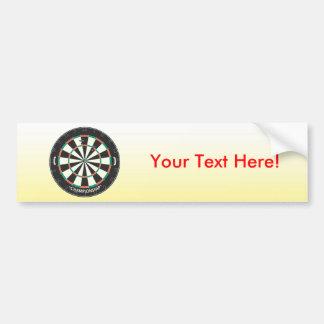 Dartboard & Darts: 3D Model: Bumper Sticker