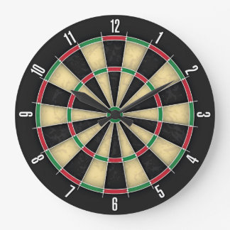 Dartboard Darts Bar Pub Games Wall Clock