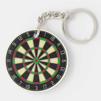 Dartboard - Darts Player's Keychain