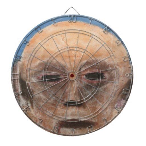 Dartboard de la blanco del cráneo del cielo