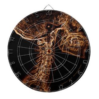 Dartboard de la C-espina dorsal de Brown/del oro