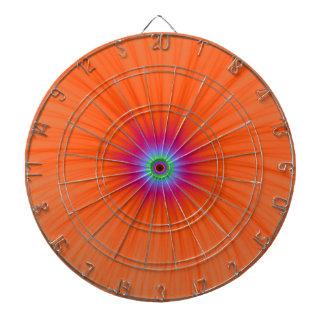 Dartboard de la explosión del color de la mandarin tabla dardos