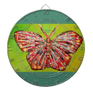 Dartboard de la jaula del metal con la mariposa