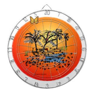 Dartboard de la vida de la isla tablero de dardos