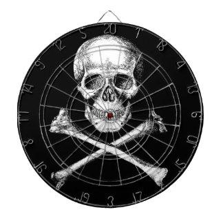 Dartboard de los huesos del cráneo y de la cruz
