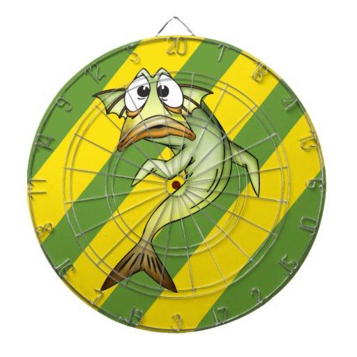 Dartboard de los pescados del dibujo animado tablero de dardos