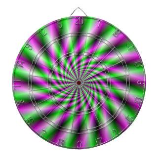Dartboard de neón de la rueda de hilado