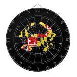 Dartboard del cangrejo de la bandera de Maryland Tablero De Dardos