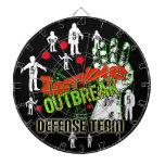 DartBoard del equipo de defensa del brote del zomb Tablero De Dardos
