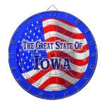 Dartboard del estado de Iowa Tabla Dardos