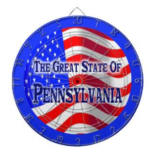 Dartboard del estado de Pennsylvania Tablero Dardos