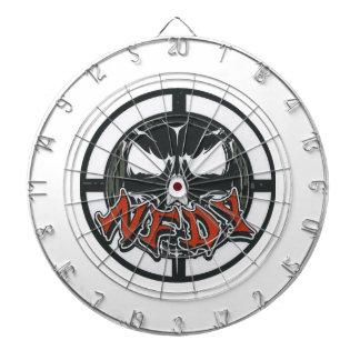 Dartboard del logotipo de la blanco de NFDY