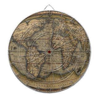 Dartboard del mapa del mundo de Ortelius