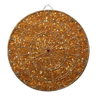 Dartboard del oro del brillo