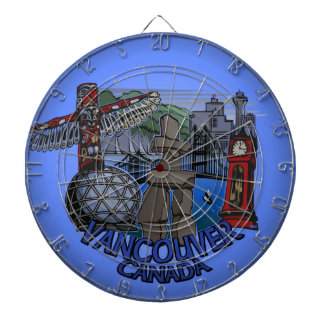 Dartboard del recuerdo de Vancouver del Dartboard
