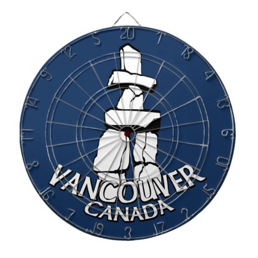 Dartboard del recuerdo de Vancouver del Dartboard  Tabla Dardos