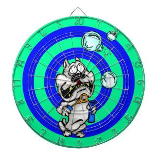 Dartboard divertido del perro del dibujo animado
