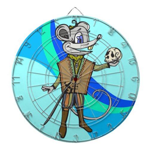 Dartboard divertido del ratón del dibujo animado tablero dardos