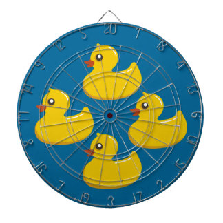 Dartboard Ducky de goma amarillo Tabla Dardos