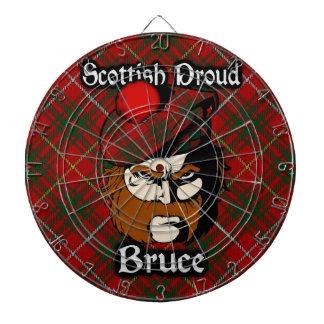 Dartboard escocés del tartán de Bruce del clan