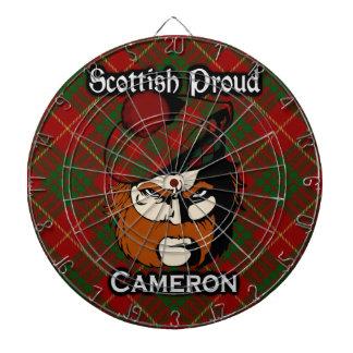 Dartboard escocés del tartán de Cameron del clan