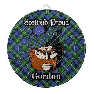 Dartboard escocés del tartán de Gordon del clan