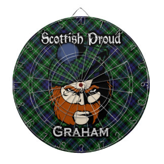 Dartboard escocés del tartán de Graham del clan
