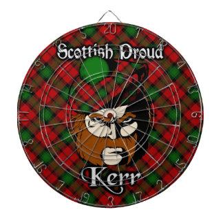 Dartboard escocés del tartán de Kerr del clan