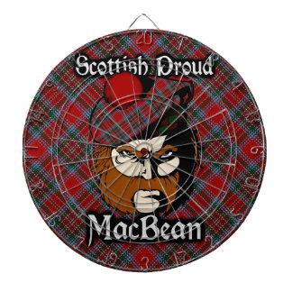 Dartboard escocés del tartán de MacBean del clan
