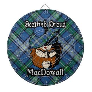 Dartboard escocés del tartán de MacDowall del clan