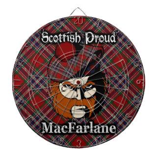 Dartboard escocés del tartán de MacFarlane del