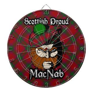 Dartboard escocés del tartán de MacNab del clan