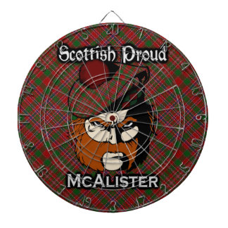 Dartboard escocés del tartán de McAlister del clan