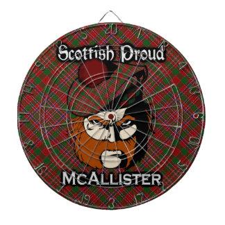 Dartboard escocés del tartán de McAllister del