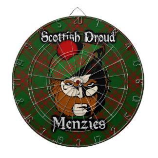 Dartboard escocés del tartán de Menzies del clan
