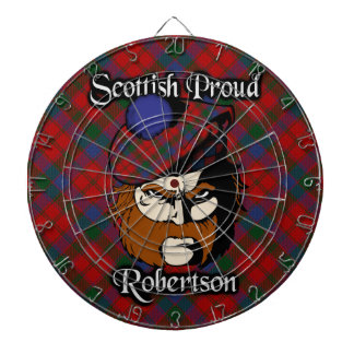 Dartboard escocés del tartán de Robertson del clan