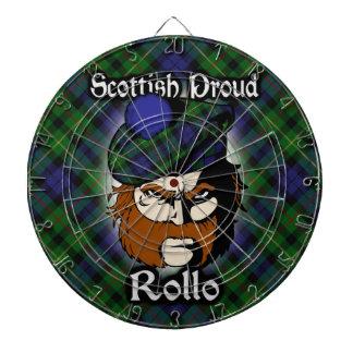 Dartboard escocés del tartán de Rollo del clan