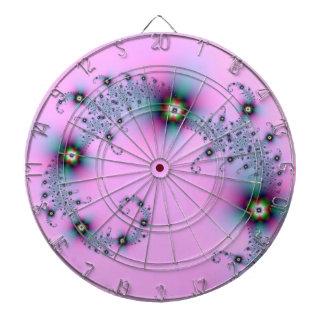 Dartboard espiral azul y rosado tabla dardos