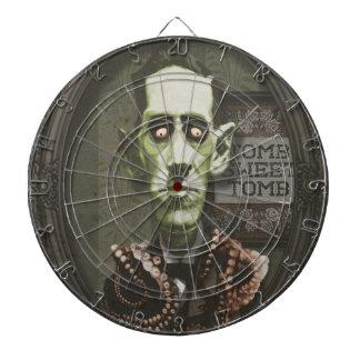 Dartboard frecuentado de HP Lovecraft del zombi