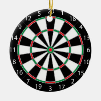 DARTBOARD! (game of darts) ~ Ceramic Ornament