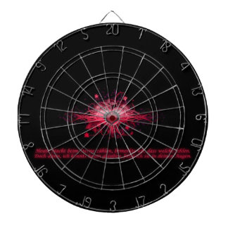 Dartboard heart pink one and black