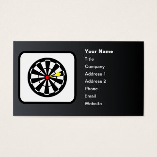 Dartboard Logo Customizable Black Business Card