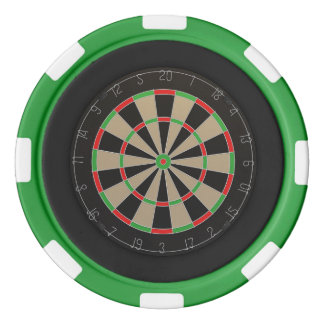 Dartboard Lover Poker Chip Set