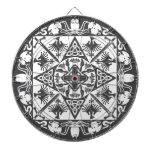 Dartboard medieval céltico blanco negro de la fant tablero de dardos