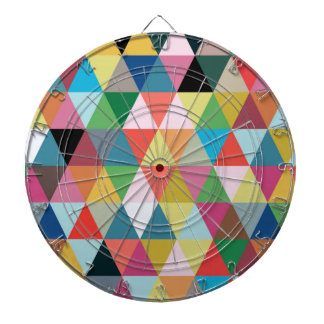 Dartboard modelado caleidoscopio colorido tabla dardos