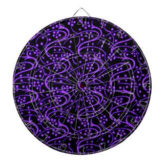 Dartboard negro púrpura de los remolinos florales  tablero dardos
